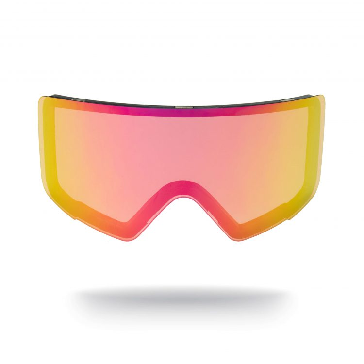 pink all weather magnetic goggle lens